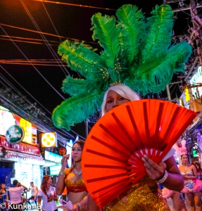 Ladyboy working at Bangla Road (Patong Beach) Phuket- Thailand.